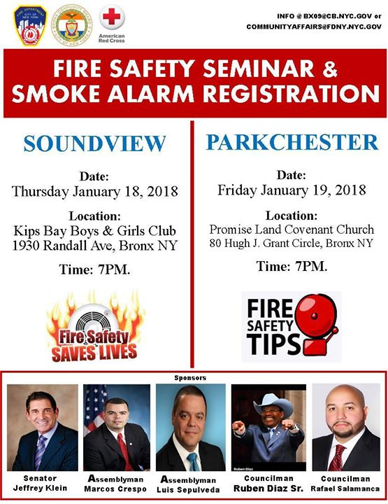 Fire Safety Seminar & Smoke Alarm Registration at Kips Bay
