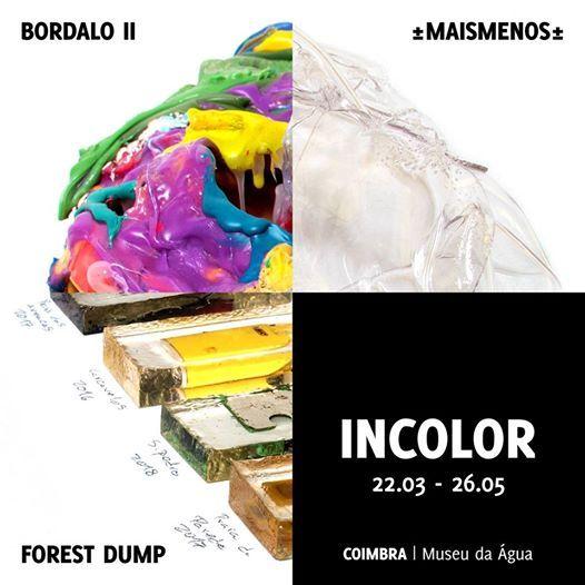 Incolor - Instalao de Bordalo II Forest Dump e Mais Menos.
