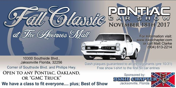 Fall Classic Pontiac Car Show At Southside Blvd Jacksonville - Car show jacksonville fl