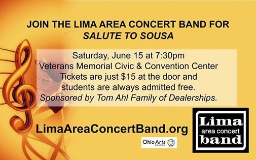 Tom Ahl Lima Ohio >> Salute To Sousa At Veterans Memorial Civic And Convention