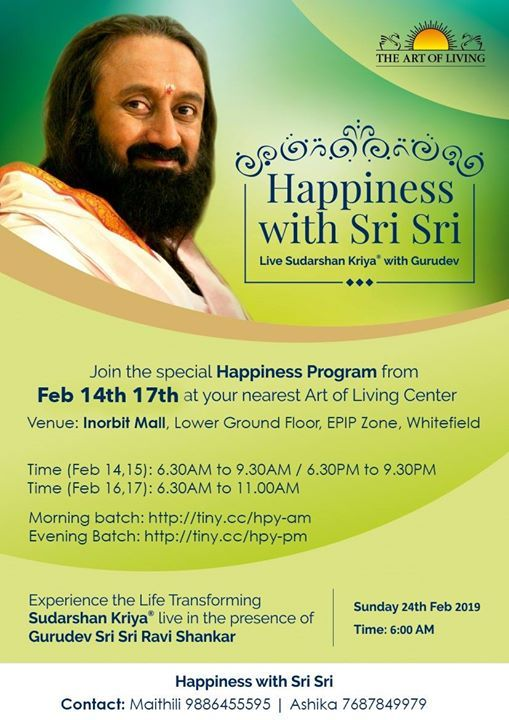 Happiness with Sri Sri
