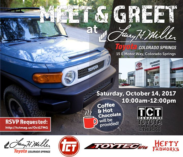 Meet U0026 Greet With Toyota Cruisers U0026 Trucks! Come Down To Larry H. Miller  Toyota Colorado Springs ...