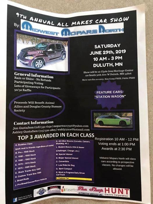 9th Annual ALL MAKES car show