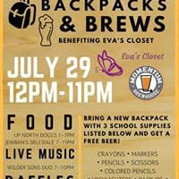 Backpacks &amp Brews Benefiting Evas Closet