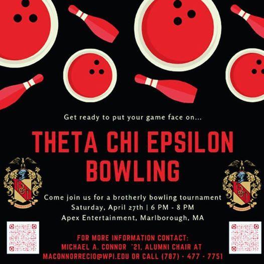 Theta Chi Epsilon Bowling at Apex Entertainment, Marlborough