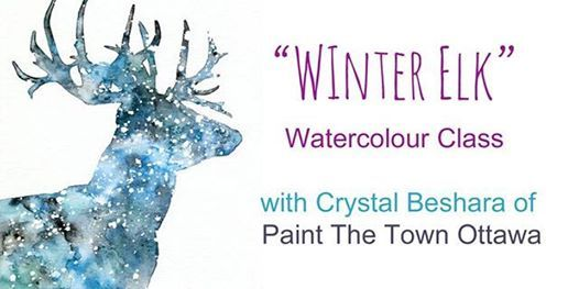 Winter Elk Watercolour Workshop