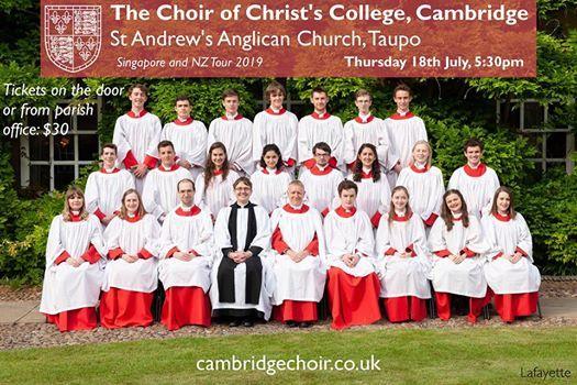 Cambridge Choir Concert - St Andrews Taupo