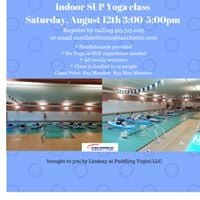 Indoor SUP Yoga class with Lindsay of Paddling Yogini LLC
