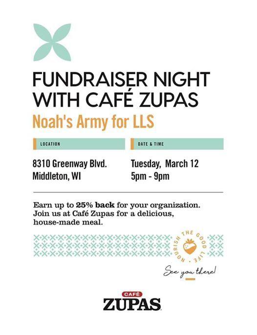 Café Zupas Fundraiser Night At Cafe Zupas8310 Greenway Blvd