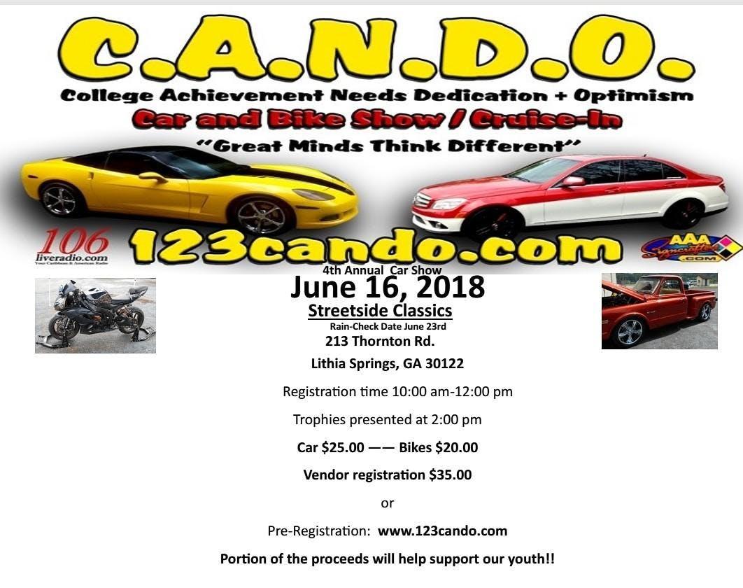 C.A.N.D.O. CAR & BIKE SHOW at Streetside Classics - Atlanta, Lithia ...