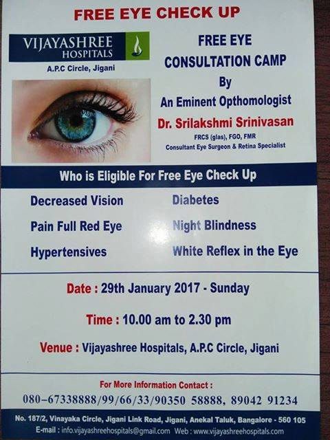 e2083888eff Our home branch in Jigani conducting free eye check up camp. So at ...