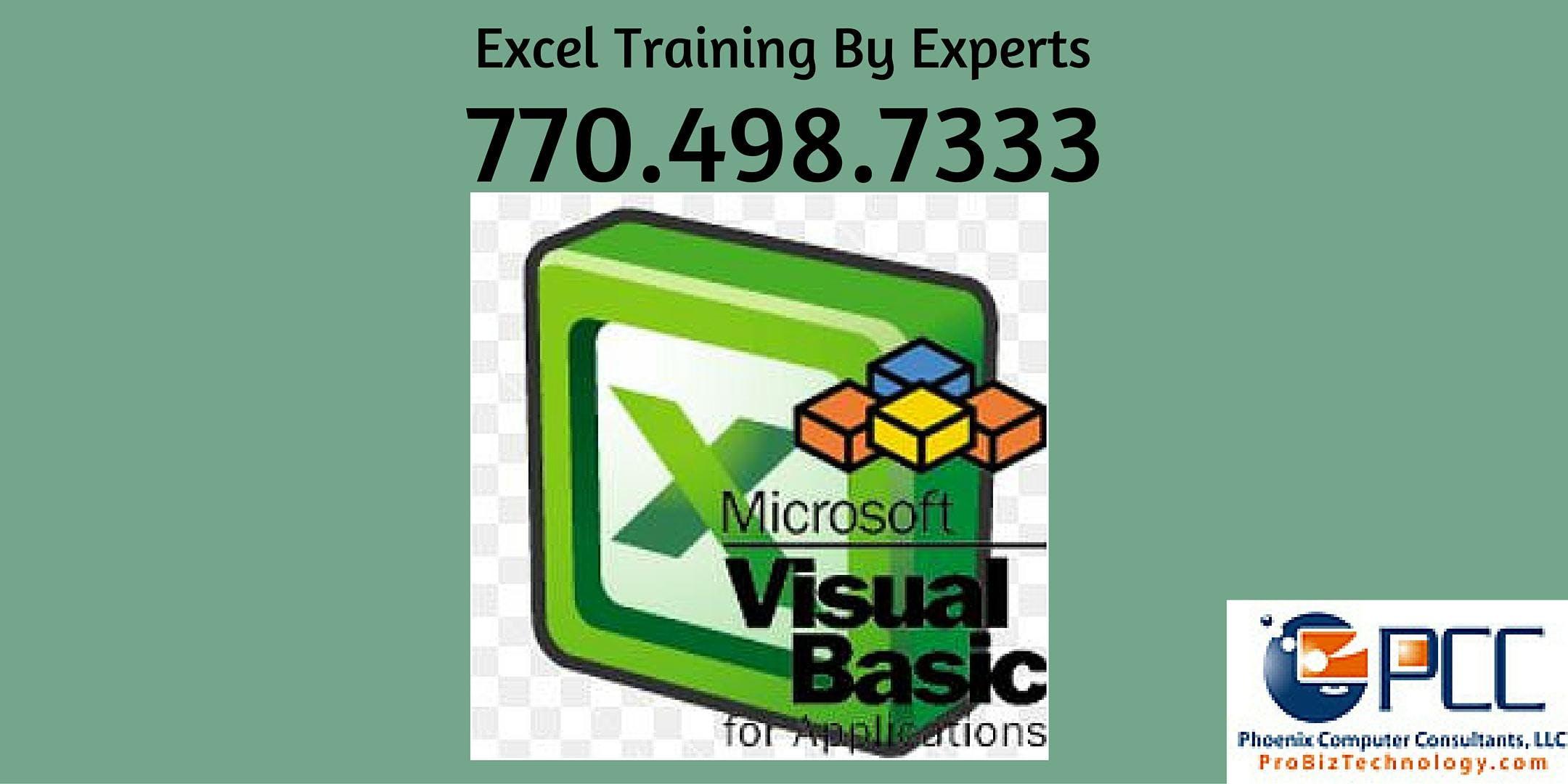 Excel Macros & VBA - 2 Days (Visual Basic for Applications