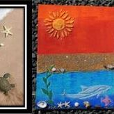 Beach Mixed Media Art
