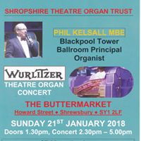 Phil Kelsall MBE plays Wurlitzer Theatre Organ in Shrewsbury