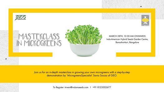 Masterclass in Microgreens