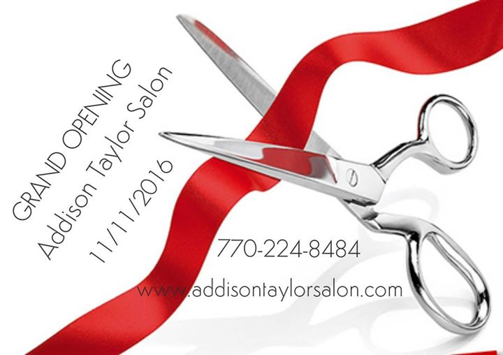 Grand opening at addison taylor salon canton for Addison taylor salon canton ga