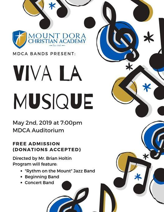 Spring Band Concert at Mount Dora Christian Academy, Florida