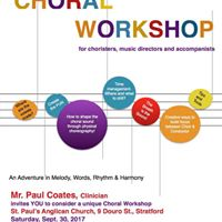 Choral Workshop led by Paul Coates. Vibrant enthusiastic