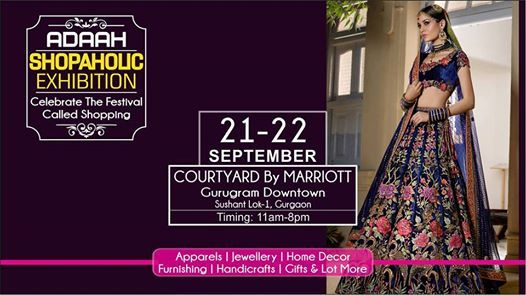 Adaah Shopaholic Exhibition 21-22 Sept at Hotel Marriott Gurgaon