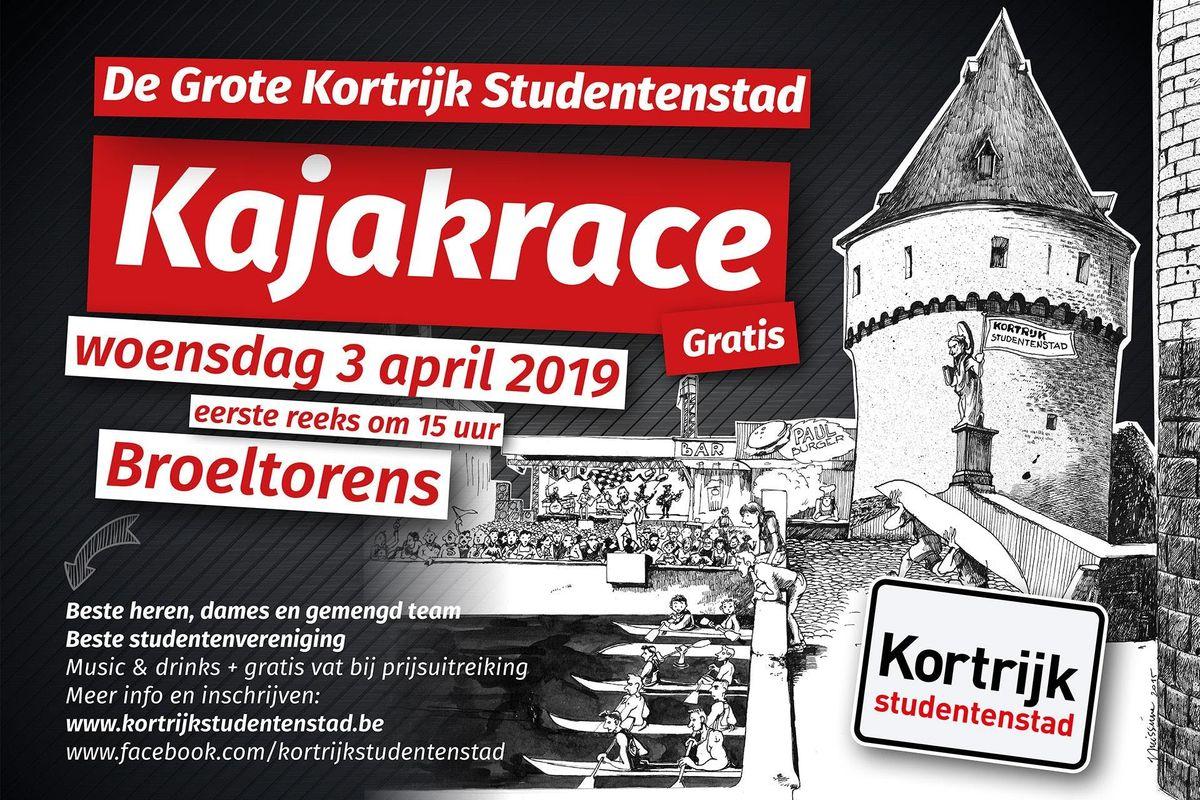 Kajakrace Kortrijk Studentenstad