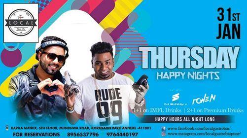 Thursday Happy Nights - DJ Rohen & DJ SunnyV