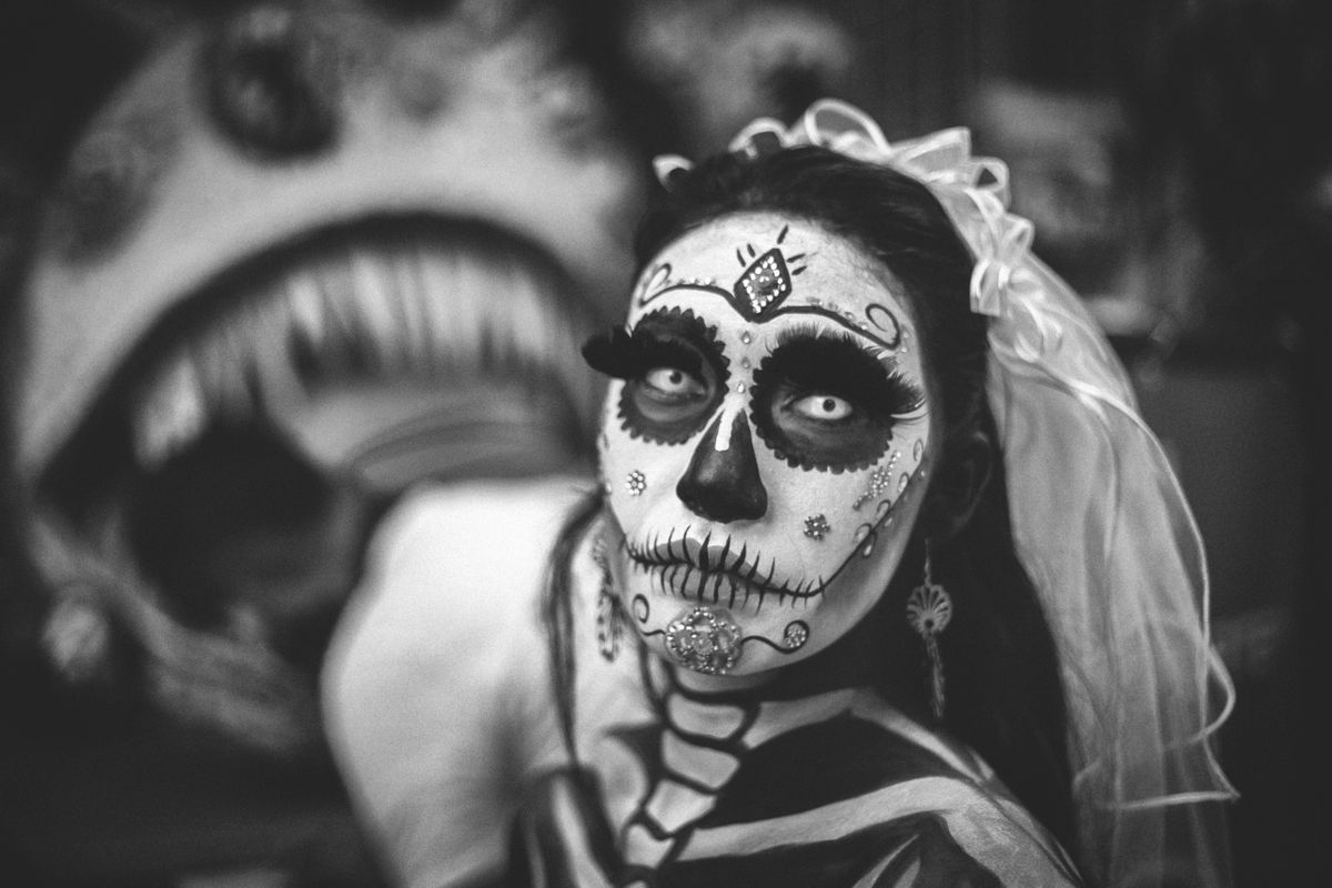 Day of the Dead Themed Studio Photography Portfolio builder Plymouth