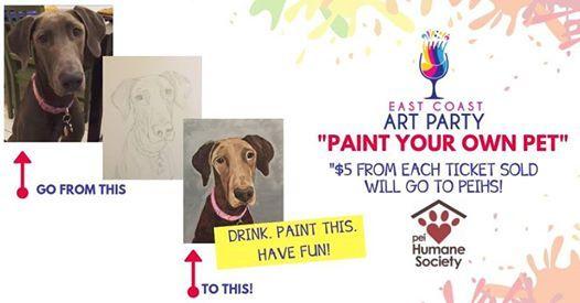 Art Party 0227 - Paint Your Own Pet - Charlottetown