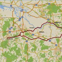 Radwanderung                                                          115 km