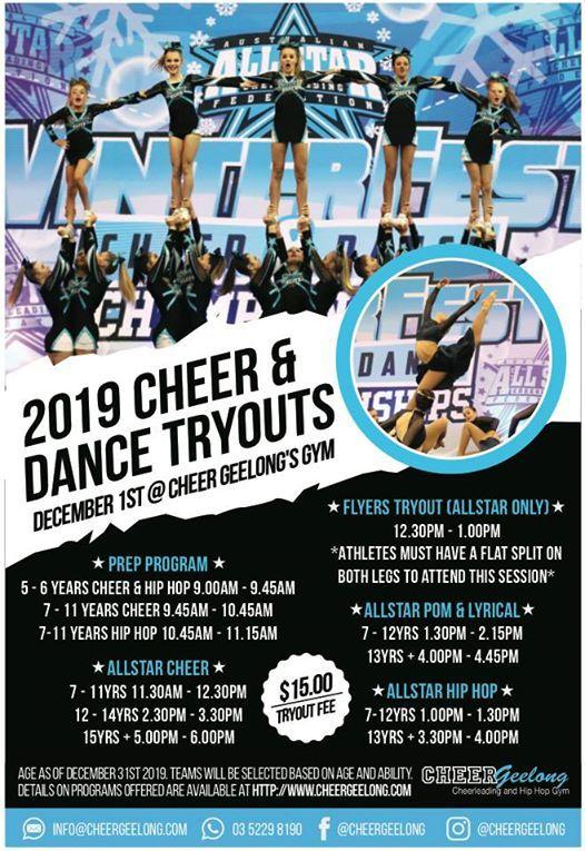Geelong Elite 2019 Tryouts