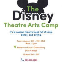 OCAF Disney Theatre Arts Summer Camp