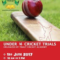 Under 16 Cricket Trials- YNauT Cricket Academy