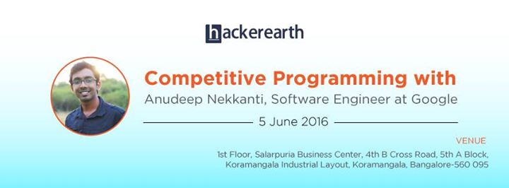 Competitive Programming Meetup 2 at HackerEarth, Bangalore