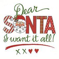 Dear Santa I Want It All Vendor Sale