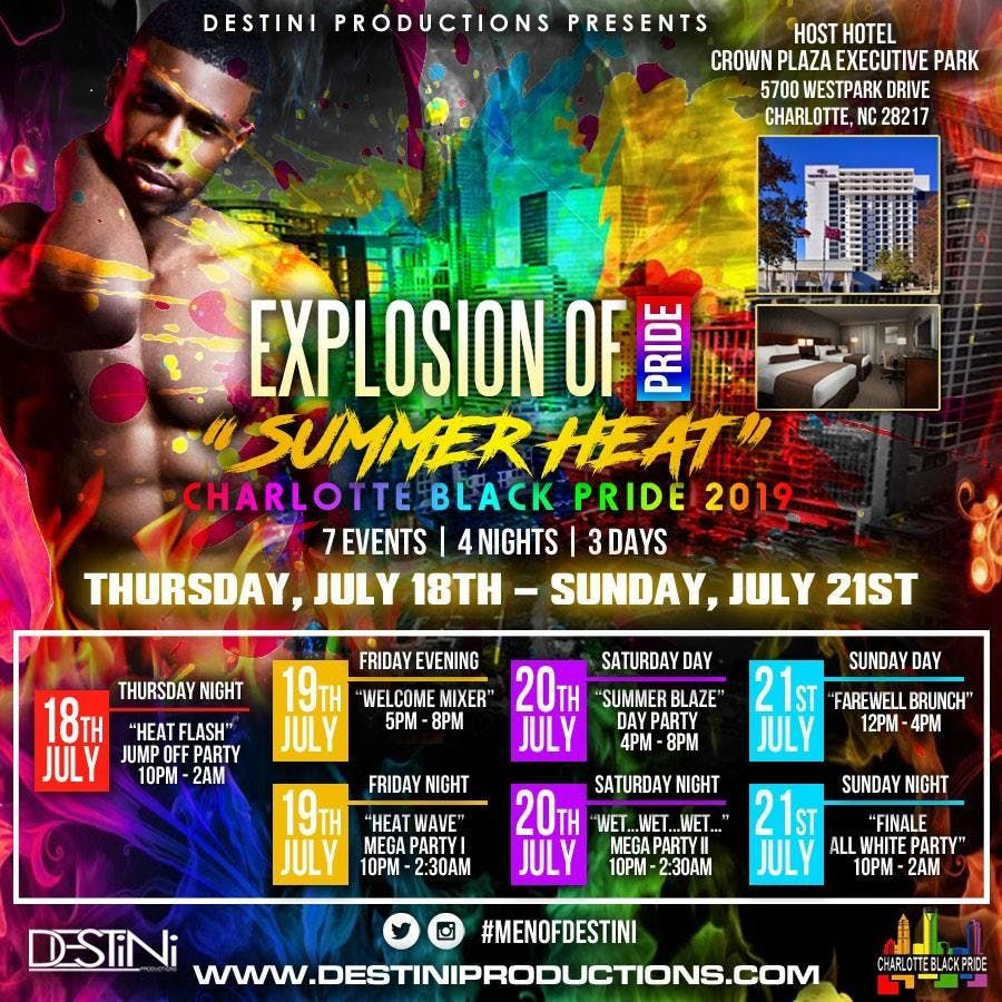 DESTINI PRODUCTIONS EXPLOSION OF PRIDE SUMMER HEAT 2019