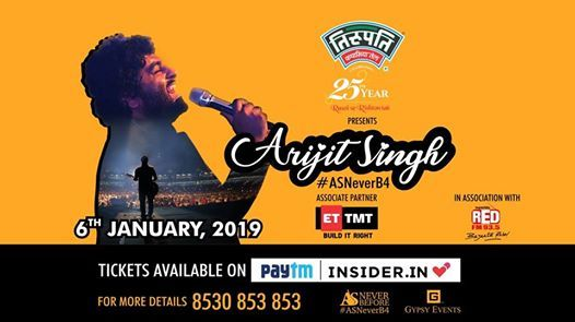 Arijit Singh Live ASNeverB4Celebrating 20 years of Gypsy Events