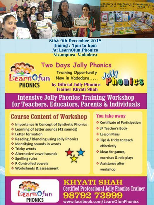 Jolly Phonics Training Workshop 8-9 Dec 2018
