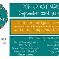 Pop Up Art Market - Sept 23rd 9-12