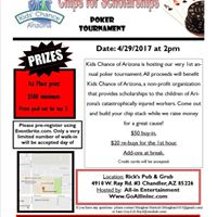 Kids Chance of Arizona Chips for Scholarships Poker Tournament