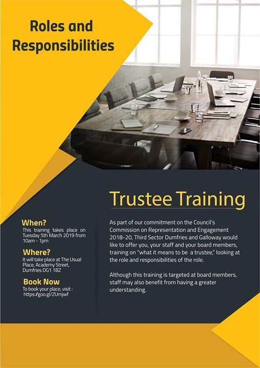 SOLD OUT - Free Trustee Training - roles and responsibilities