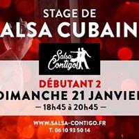 Stage de Salsa Cubaine Niv db 2  Soire