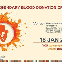 Legendary Blood Donation Drive - 2018