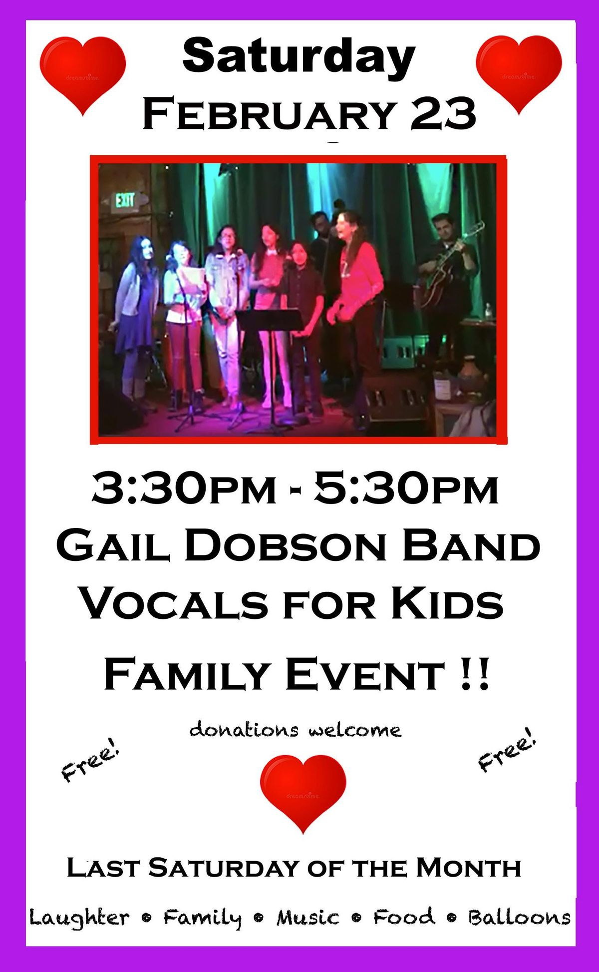 Gail Dobson Band Vocals for Kids  The Starry Plough Pub