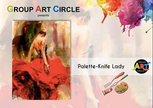 Palette Knife Lady - Art Party (Baner)