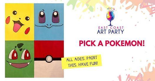 Art Party 0324 - Pick a Pokemon- Charlottetown