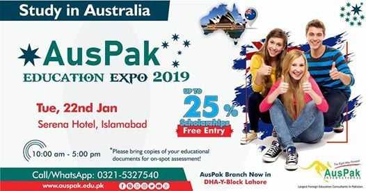 AusPak Australian Education Expo January 2019 - Islamabad