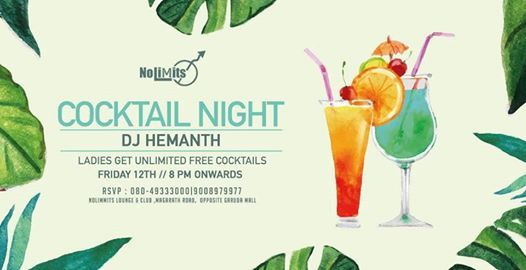 Cocktail Night Ft DJ Hemanth The Fabulous Friday Event