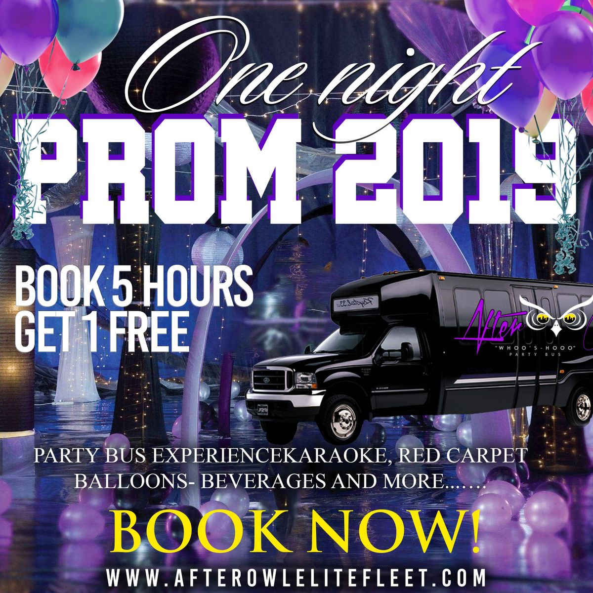 Prom Premium Party BusLuxury Black Car Package