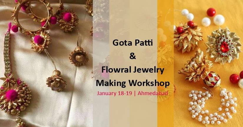 Gota Patti & Floral Jewelry Making Workshop