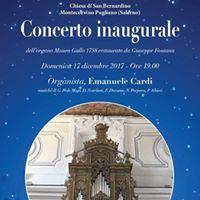 Concerto inaugurale dellorgano Mauro Gallo 1758