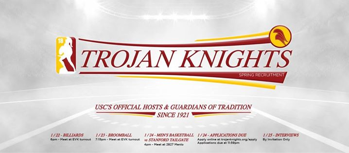 Trojan Knights Spring Recruitment 2018
